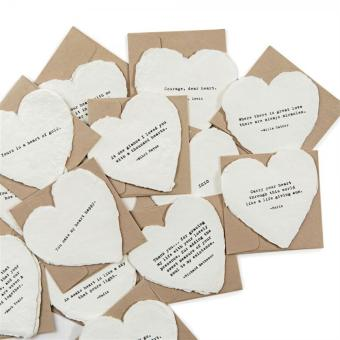 Sugarboo Deckled Heart Notecards