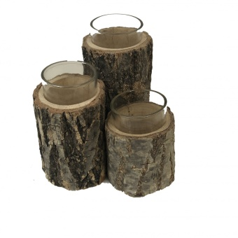 Birch Votive Trio